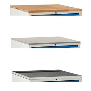 Optional Cabinet Tops for Euroslide 600 & 900 Cabinets