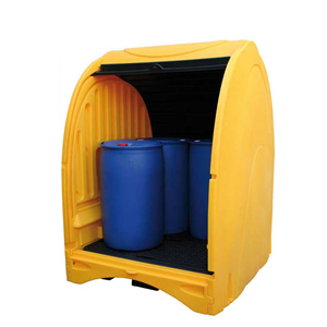 Outdoor Covered Drum Storage Unit