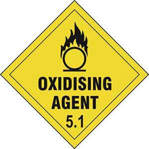 Oxidizing Agent 5.1 Diamond Labels
