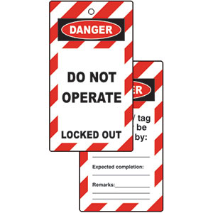 Pack of 10 Do Not Operate Lockout Tags
