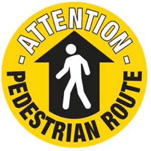Pedestrian Route Graphic Floor Marker