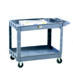 Plastic 2 Tray Service Trolley