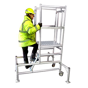 Podium platform, podium steps, all aluminium construction, PAS 250 conforming