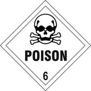 Poison 6 Diamond Labels