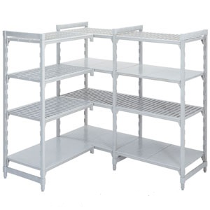 Polypropylene Shelving 400 deep 4x Grille Shelves