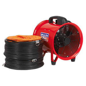 250mm Portable Ventilator with 5 meter Ducting with FREE UK Delivery