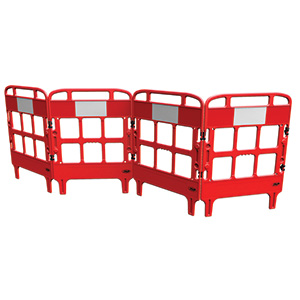 3 or 4 gate, compact, stackable, free delivery, barrier system, Portagate
