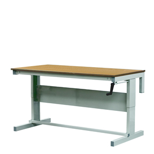 Premier Height Adjustable Workbenches with Hardwood Top