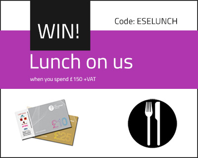 Prize draw entry for a chance to win a free lunch on us when you spend £150 or more