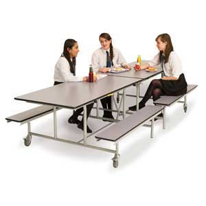 Rectangular Mobile Folding Bench Units