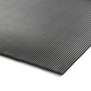 Ribbed Rubber Electrical Safety Matting 6mm Thick - Price Per Meter