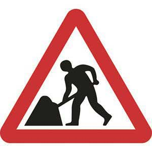 Road Works Roll-up Sign