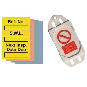 Safe Working Load Mini Safety Tag Kits