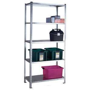S/D Galvanised Just Shelving with 5 Galvanised Shelves