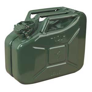 Sealey JC10G 10 Litre Steel Jerry Can