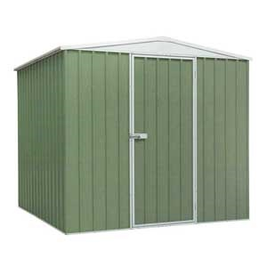 Sealey Galvanised Green Steel Shed
