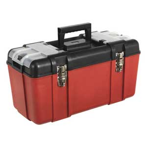 Tool Boxes with Tote Tray & 2 Organisers