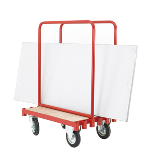 Sheet Carrying Truck with 2 Movable Steel Supports