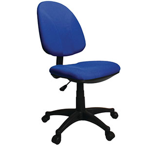Single Lever Operator Chair, Blue and Black, Optional Arms