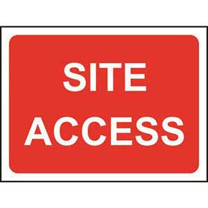 Site Access Road Sign