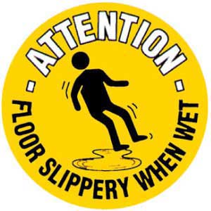Slippery When Wet Graphic Floor Marker