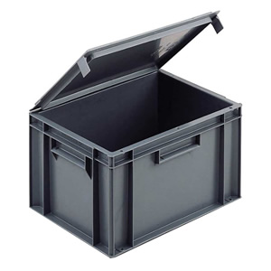 Solid Euro Containers with Integral Lids