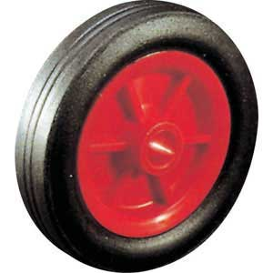 Solid rubber tyred wheel