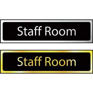 Staff Room Mini Sign