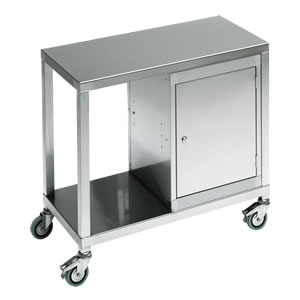 Stainless Steel 2 tier Trolley & Cabinet / Drawer