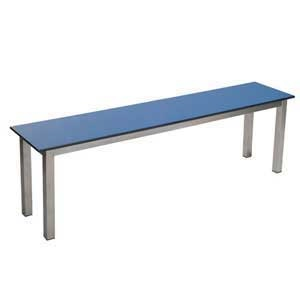 Aqua Stainless Steel Mezzo Freestanding Changing Room Benches