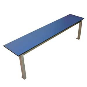 Aqua Stainless Steel Mono Leg Changing Room Benches