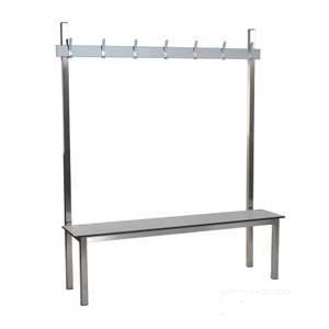 Aqua Stainless Steel Solo Changing Room Benches