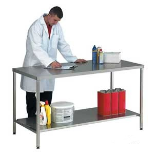 Stainless Steel Worktable with Lower Shelf