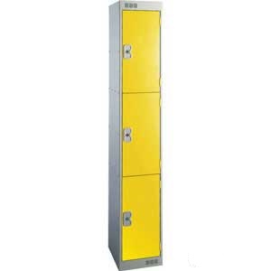 Browns metal locker 3 compartments