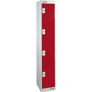 Browns metal locker with 4 compartments