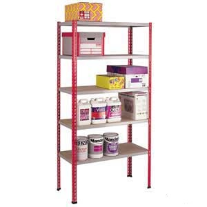 Standard Duty Just Shelving 2438mm high with 6 Shelf Levels