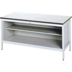 H/D bench Standing Height Bench with base & centre shelf