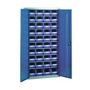 Steel Storage Cabinet with 40 plastic containers