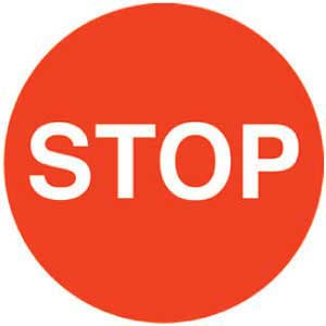 Stop Graphic Floor Marker