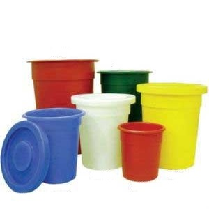 Round tapered food grade Bins