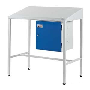 Team Leader Workstation With Lockable Cupboard