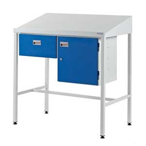 Team Leader Workstations With Single Drawer & Lockable Cupboard