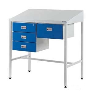 Team Leader Workstations With Triple & Single Drawer