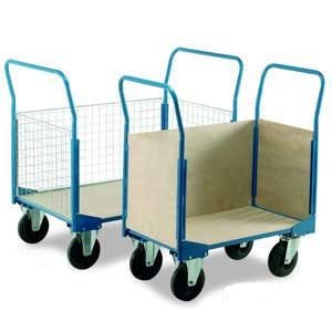 Three Sided Veneer Box Cart Trolley