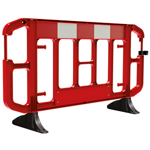 Red Titan® 2 metre Traffic Barrier with Anti-trip Feet
