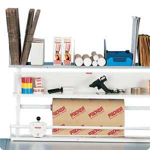 Packing station top shelf and mandrel set