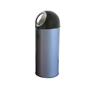 Torpedo Push Bins in Stainless Steel or colour coat finish