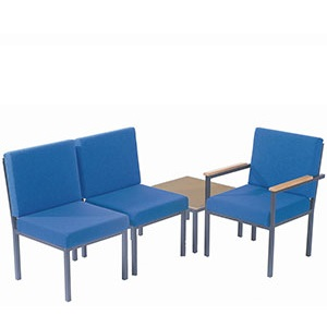 Traditional Steel Framed Reception Chairs and Table
