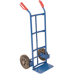 Traditional Tubular Blue Hand Truck 100kg Capacity