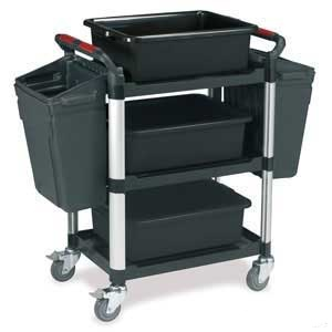 Utility Tray Trolleys with 3 Shelves with Accessories